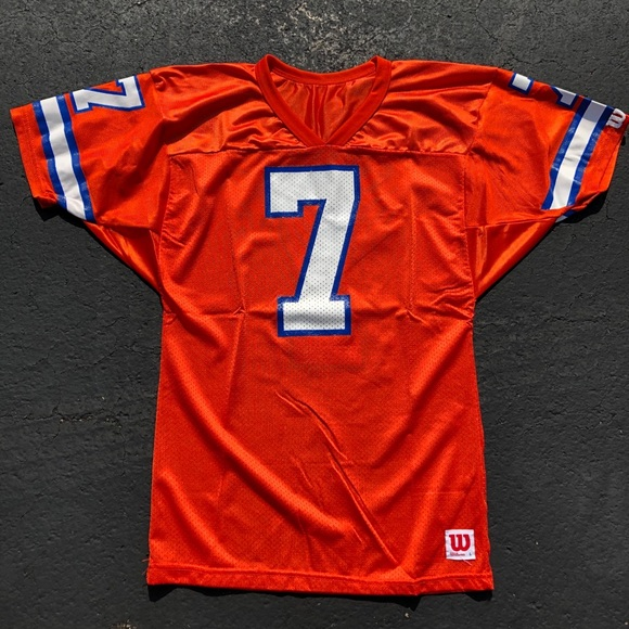 competitive price ca7f5 299e8 Vintage Wilson John Elway Denver Broncos jersey 7